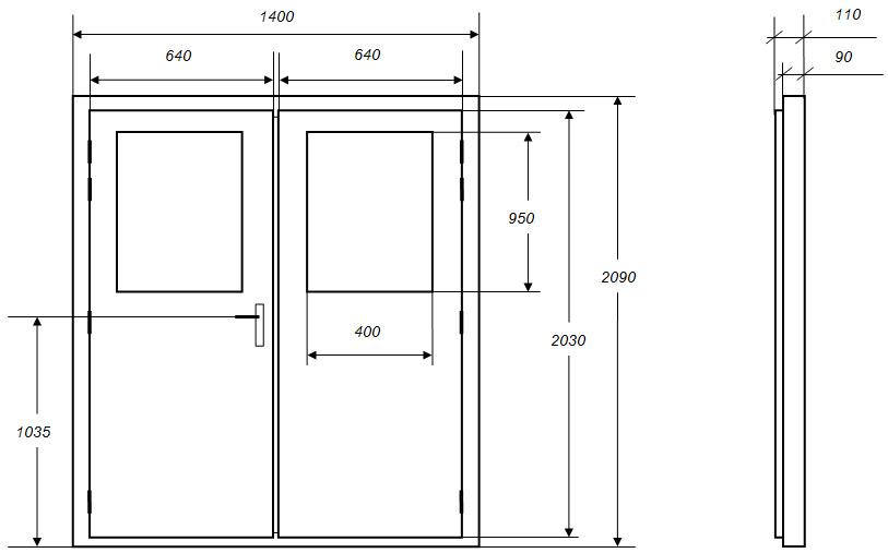 Portes Isophoniques ISODPV Porte Acoustique - Porte isophonique