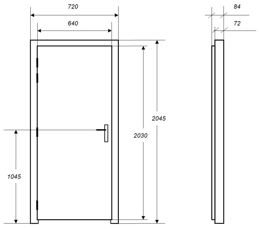Portes isophoniques en promotion porte acoustique for Porte acoustique 60 db